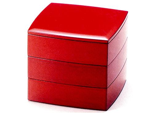 5.5胴張三段重箱 根来(製造中止) 木製 漆塗りお重箱