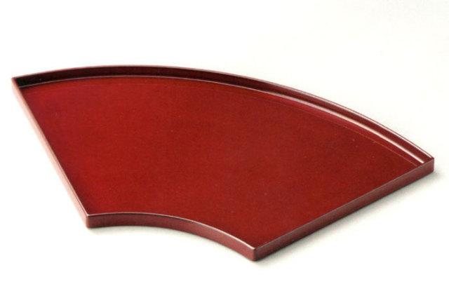 13.0 扇面盆(製造中止) 木製 漆塗り ランチョンマット
