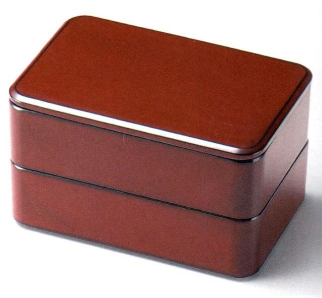 都長角弁当箱 古代朱内黒(製造中止) 漆塗り ランチボックス