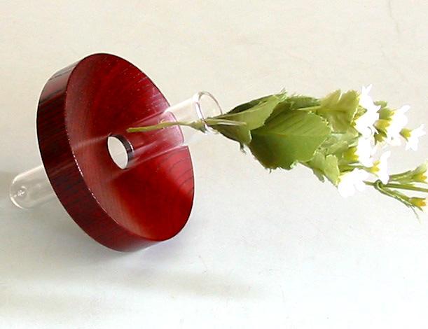 ディスク花生け コロン (製造中止) 木製 漆塗り 花器 花瓶