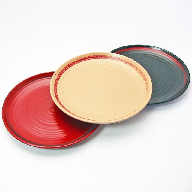 パン皿 栃 一本線 木のお皿 木製 漆塗り 中皿