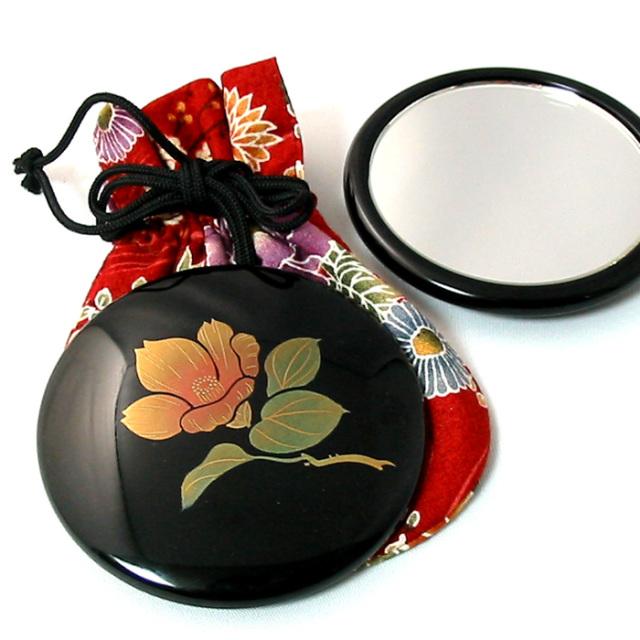 プチ手鏡誕生花 コンパクトミラー