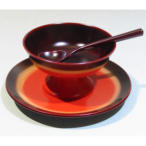 デザートセット 夢ぼかし 漆塗りデザートカップ(製造中止)