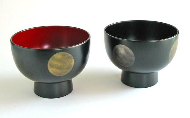 合鹿椀 日月ぼかし(製造中止) 漆塗り 大椀・麺鉢・丼鉢
