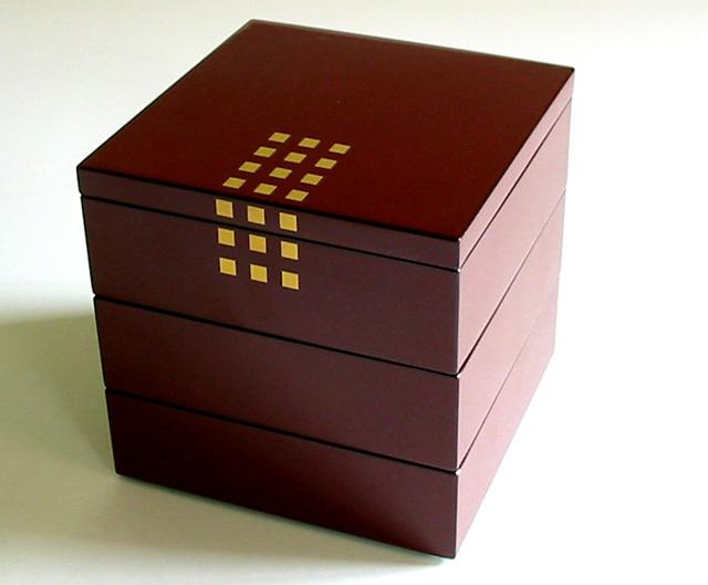 姫小重箱 街のあかり (製造中止) 漆塗りお重箱