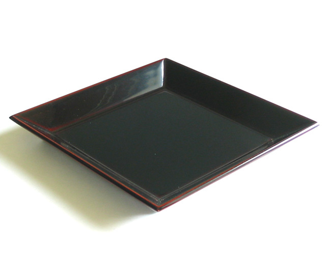 菱形皿 溜 (製造中止) 木製 漆塗り 中皿