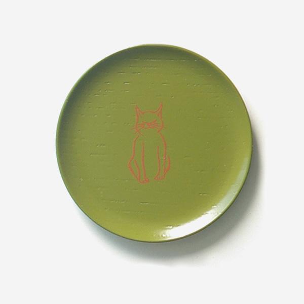 漆まめさら ねこ 緑