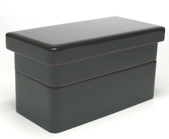 長角二段弁当箱 溜内朱(製造中止) 木製 漆塗り 木のランチボックス