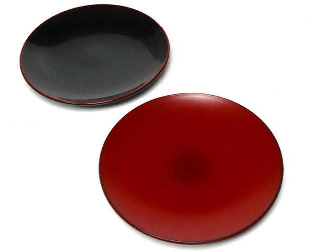 6寸 丸皿 溜(製造中止) 漆塗り 中皿