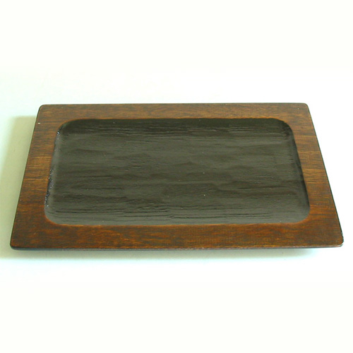 いっぷく茶菓盆 木製 漆塗り ランチョンマット