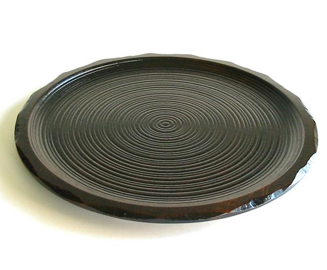 丸盆 はつり   木製 漆塗り トレー(製造中止)