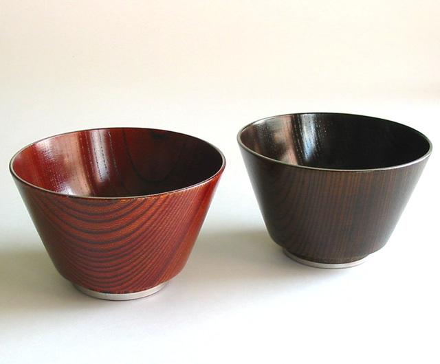 汁椀 欅 扇形(製造中止) 木製 漆塗り 木のお椀・味噌汁椀
