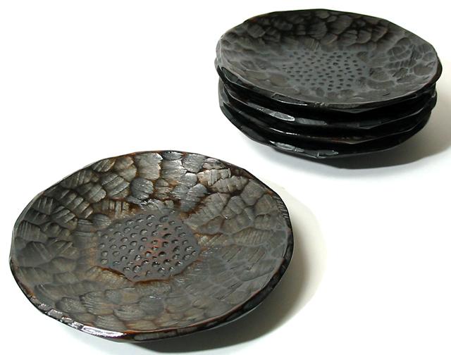 茶托 象谷はつり 5枚セット【送料無料】 木製 漆塗り
