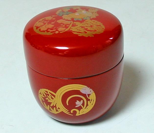 中棗 朱花丸 (製造中止) 漆塗り お茶道具