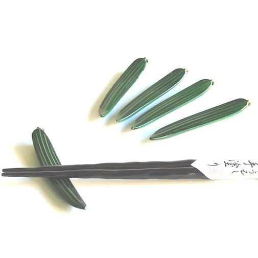 箸置き 笹舟緑 5個セット