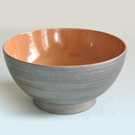 お好み椀 銀嵯美 内白漆 (製造中止)【送料無料】 木製 漆塗り 大椀・麺鉢・丼鉢