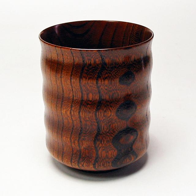 大きな湯呑み 欅 木製 漆塗り