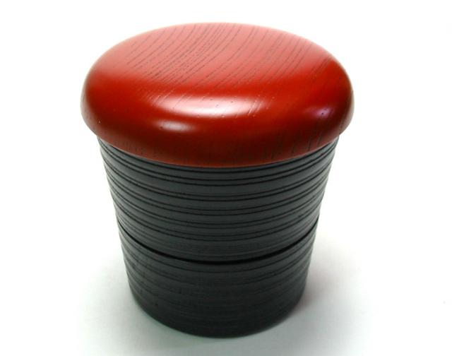 きのこ弁当箱 欅 風呂敷付(製造中止) 木製 漆塗り 木のランチボックス