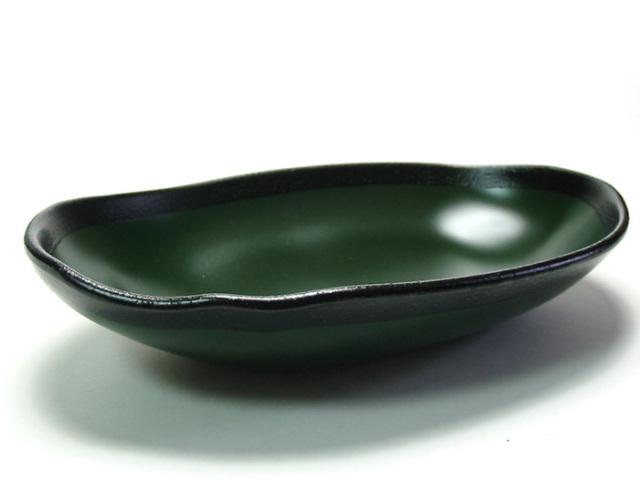 もてなし盛鉢 渕錆 緑 中鉢