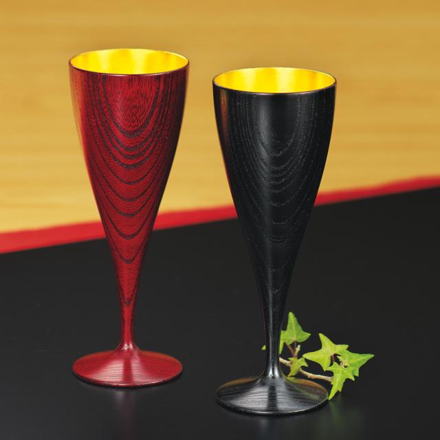 ワインペアカップ ひびき 内金箔