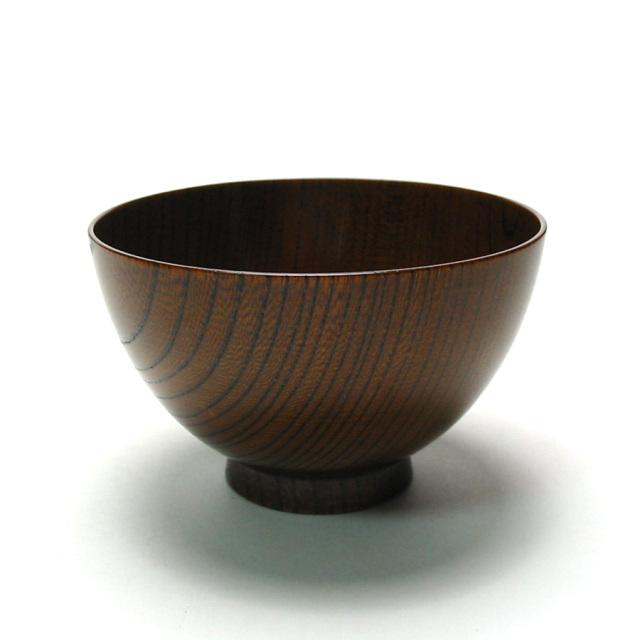 けやき汁椀 拭き漆 3.8寸 木製 漆塗り 木のお椀・味噌汁椀