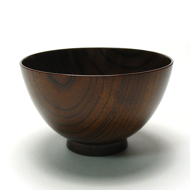 けやき汁椀 拭き漆 4寸 木製 漆塗り 木のお椀・味噌汁椀