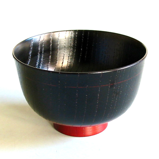 汁椀 欅 塗分反型 木製 漆塗り 木のお椀・味噌汁椀