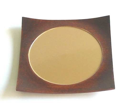 四方皿 白満月 小(製造中止) 木製 漆塗り 中皿