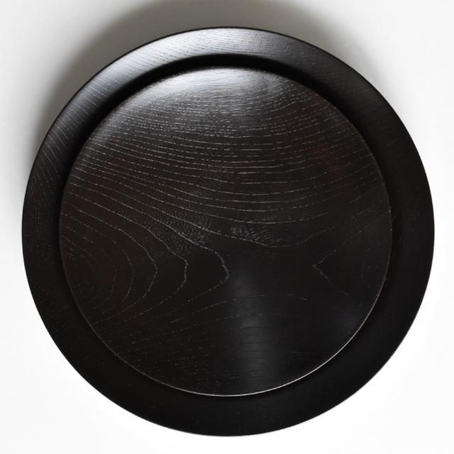 MOKU 丸皿 赤黒スリ 小
