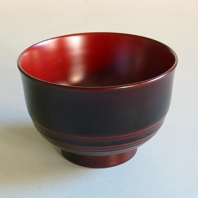 汁椀 筋入り 桜  木製 漆塗り 木のお椀・味噌汁椀