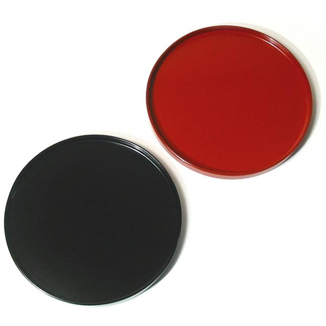 丸盆 6寸 木製 漆塗り トレー(製造中止)