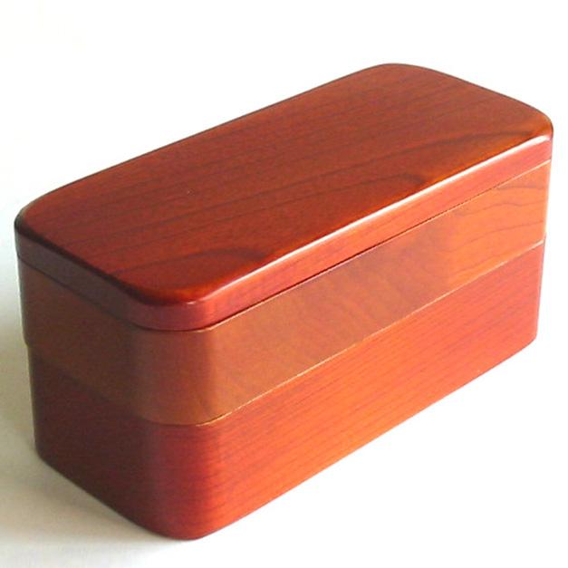 木製布袋二段弁当箱 (製造中止・在庫限り)木のランチボックス