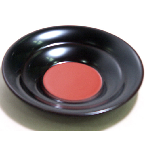 茶托 溜 日の出 5枚セット【送料無料】 木製 漆塗り
