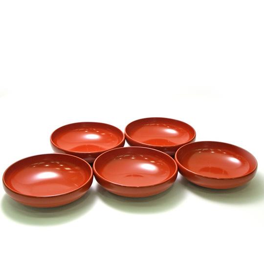 サラダ小鉢 洗朱 5枚セット 漆塗り 小皿 取り皿 取り鉢
