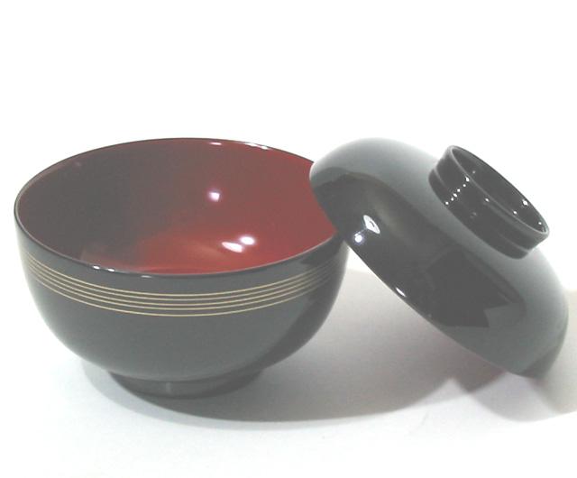吸物椀 金線 仙才型(製造中止) 木製 漆塗り
