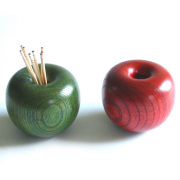 りんごっこ楊枝入れ 欅 木製 漆塗り