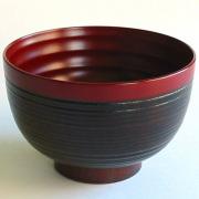 弥生汁椀 溜 木製 漆塗り 木のお椀・味噌汁椀