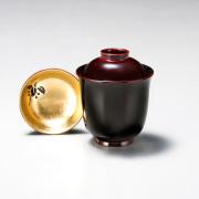 小吸物椀 箔やぶこうじ 溜  5客セット【送料無料】 漆塗り
