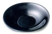 茶托 羽反 黒 5枚セット 【送料無料】 木製 漆塗り 10-05804