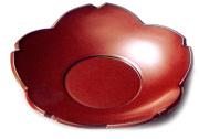 茶托 桜 5枚セット 漆塗り 10-06001 10-6002