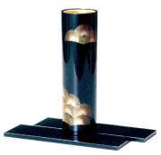 花器 松 黒 敷板付 花瓶