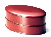 小判二段重箱 根来 【送料無料】 木製 漆塗りお重箱 10-14803