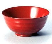 飯椀 鉋目 古代朱 木製 漆塗り 木のご飯茶碗
