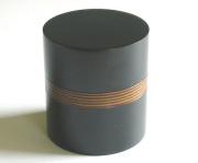 茶筒 黒筋ぼかし(製造中止) 木製 漆塗り
