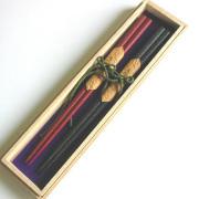 夫婦箸 本乾漆 桐箱入 木製 漆塗り
