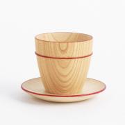 MOKU ミニカップ&ソーサーセット  木製のコップ・グラス・コーヒーカップ