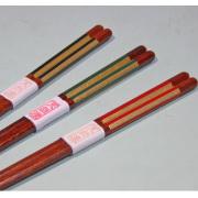 箸 金箔ストライプ 【メール便可】 木製 漆塗り カトラリー