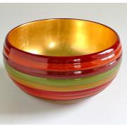 盛鉢 独楽文様 内金箔 【送料無料】 木製 漆塗り 中鉢