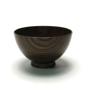 けやき汁椀 拭き漆 3.6寸 木製 漆塗り 木のお椀・味噌汁椀