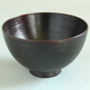 富貴漆椀 4寸 木製 漆塗り 木のお椀・味噌汁椀